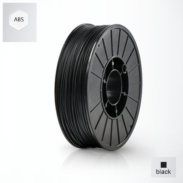2 x 500g reels Black UP ABS+ Premium Filament (1 kg)