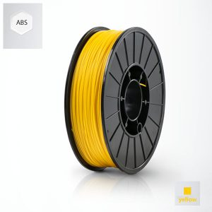 2 x 500g reels Yellow UP ABS+  Premium Filament (1 kg)