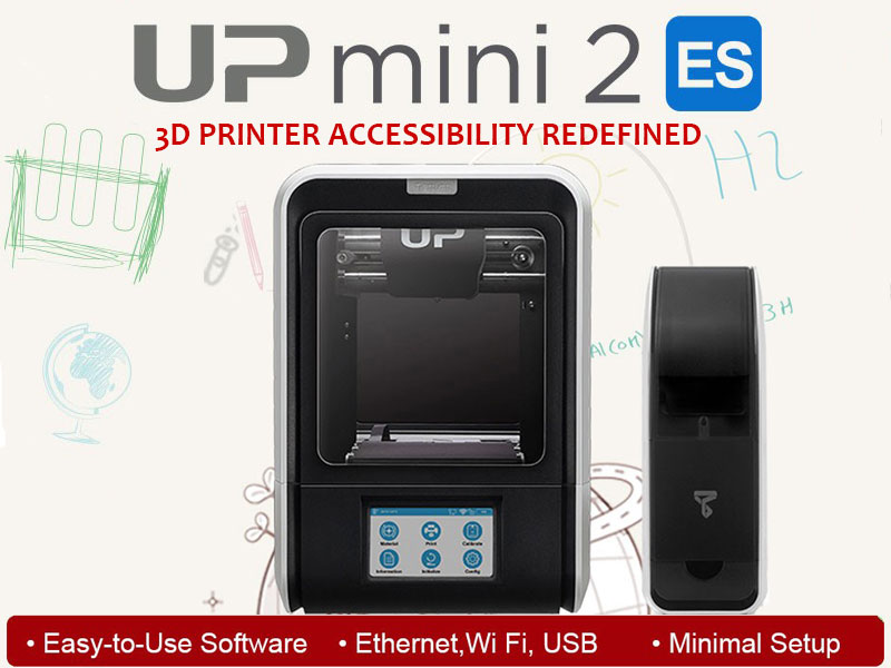 UP mini 2 ES – 3D Printer Accessibility Redefined