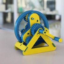 Gear printed in parts
